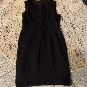 Elie Tahari black sleeveless midi dress, size 12